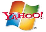 Yahoo logo and microsoftlogo