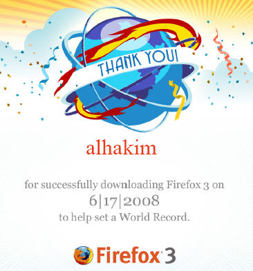 Firefox Download Day Certificate