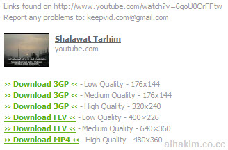 hasil download video