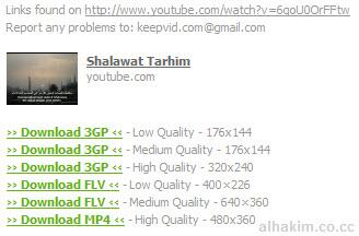 hasil download video