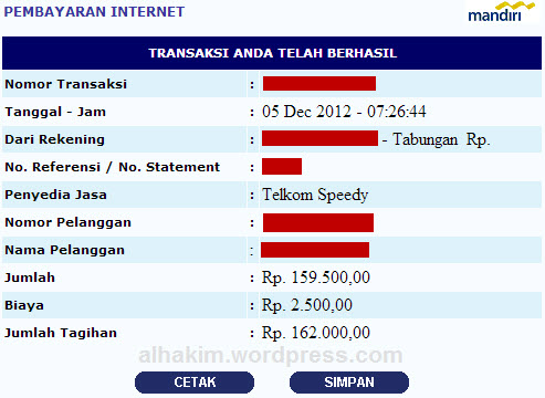 bayar speedy 3