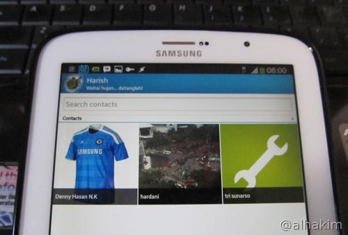 BBM di tablet Android siap digunakan