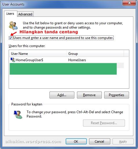 cara masuk windows langsung tanpa ketik password