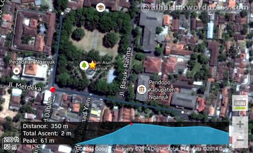 Mengukur jarak tempuh di Google Maps 6