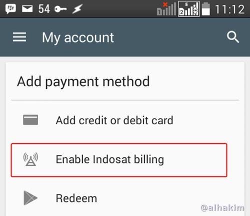 Aktifkan Indosat Billing
