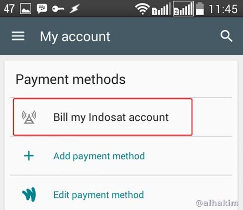 Aktivasi Billing Indosat Berhasil