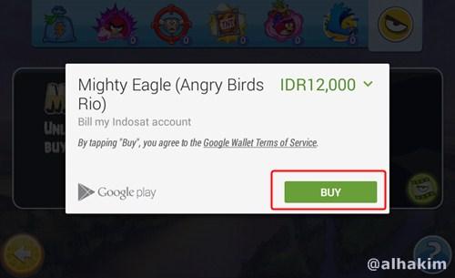 klik BUY di in app purchase