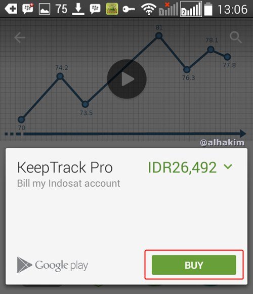 klik tombol BUY di play store