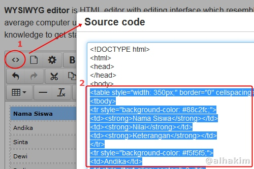 copy source code html