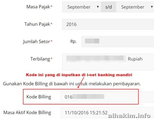 Kode e billing pajak online