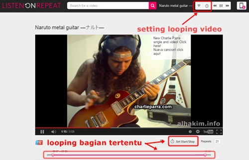 Play Youtube secara looping