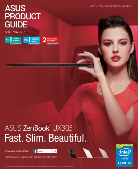 Brosur laptop gadget Asus April Mei 2015