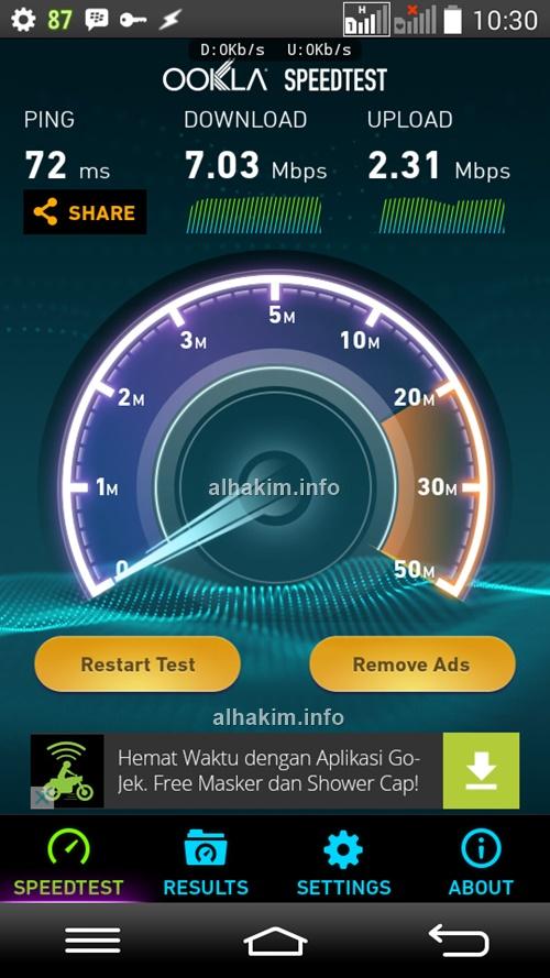 tes kecepatan internet indosat
