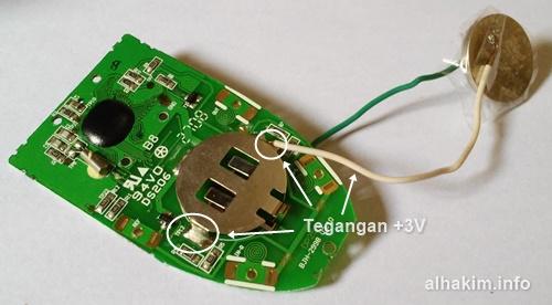 Solder kabel tegangan 3v