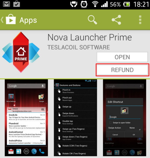 cara refund apk android