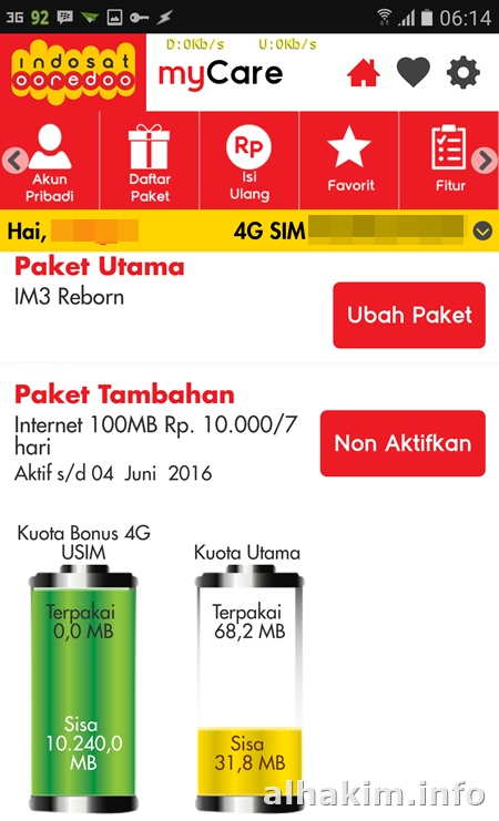 Indosat myCare versi lama