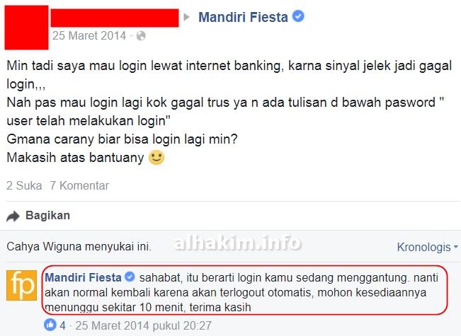 Mengatasi Error User Telah Melakukan Login Internet Banking Mandiri My Simple Blog